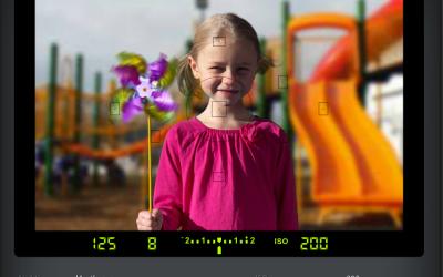 Veidrodinio fotoaparato simuliatorius