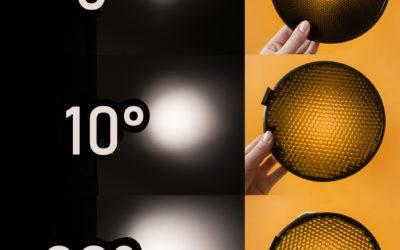 Korio (angl. honey comb) panaudojimas fotostudijoje