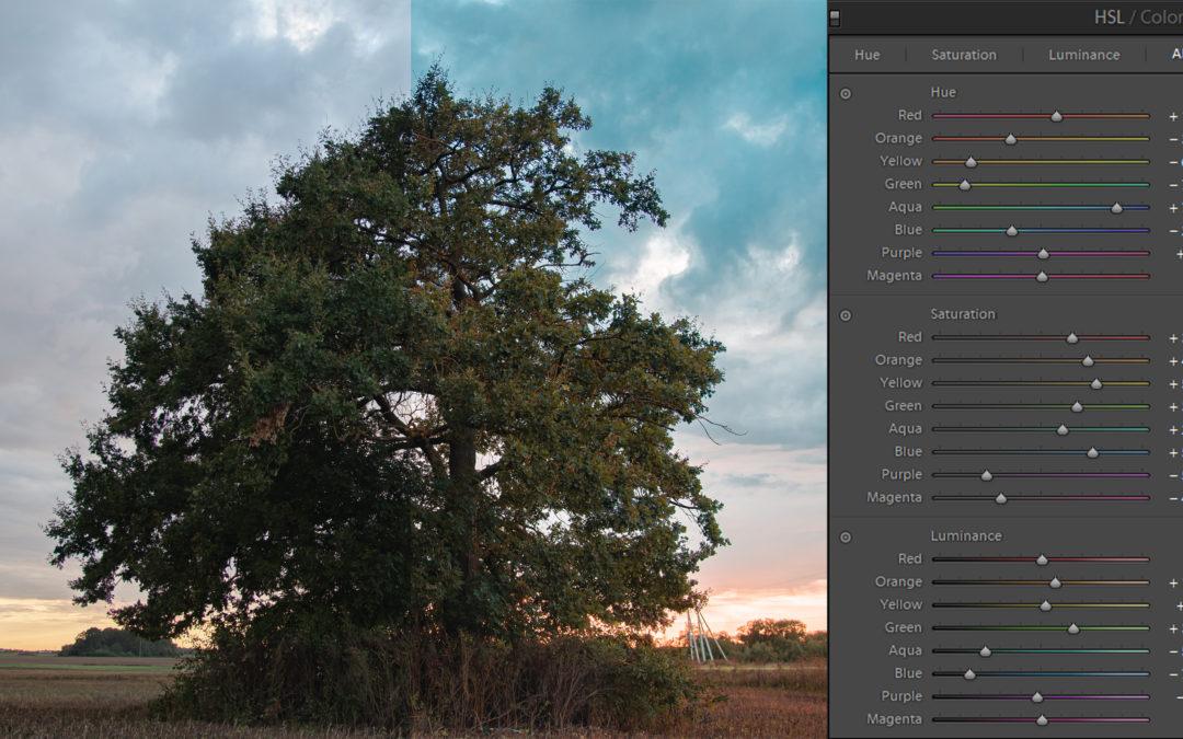 Spalvų redagavimas naudojant Adobe Lightroom